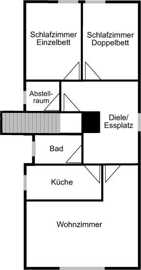 Grafik Grundriss Wohnung Cornelia